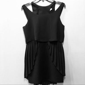 NWT! BCBGeneration Black Pleated Cut-Out Dress.